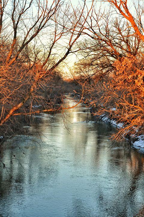 Shimmering Winter River - Pheobe's Photography