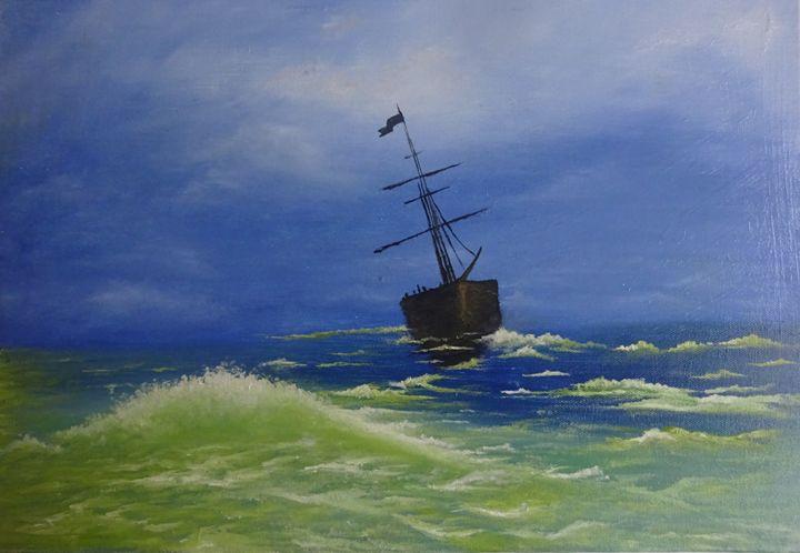 Boat in storm - vijay