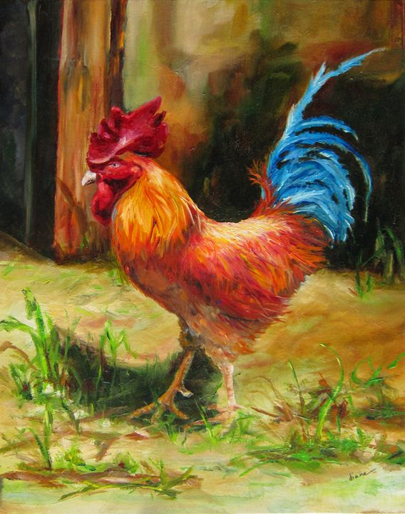 Blue Tailed Rooster - SandhillsArtist