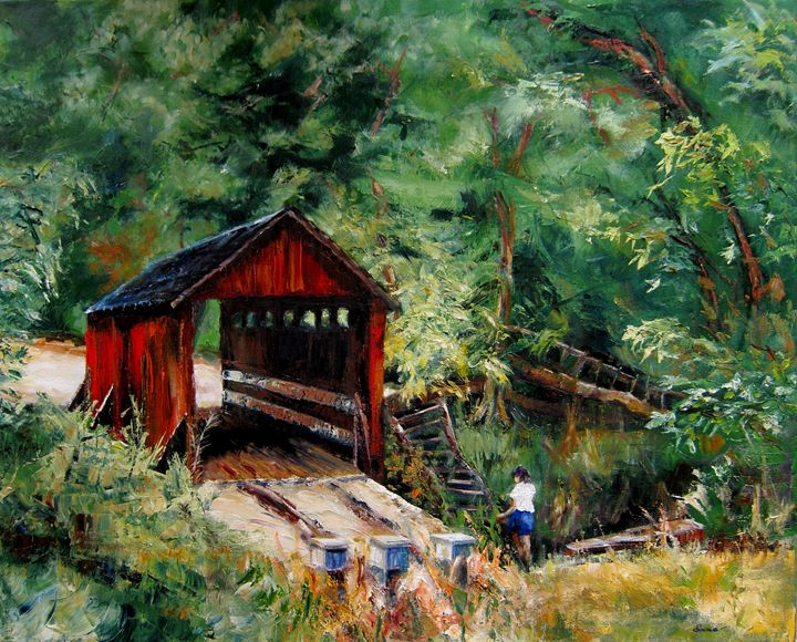 Pisgah Covered Bridge - SandhillsArtist