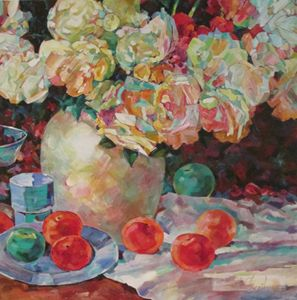 PEONIESE AND PEACHES - rccreativefineart.com