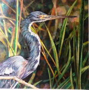 THE TRY COLORED HERON - rccreativefineart.com
