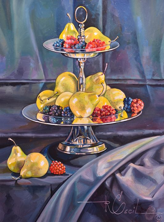 THE SILVER FRUIT TRAY - rccreativefineart.com