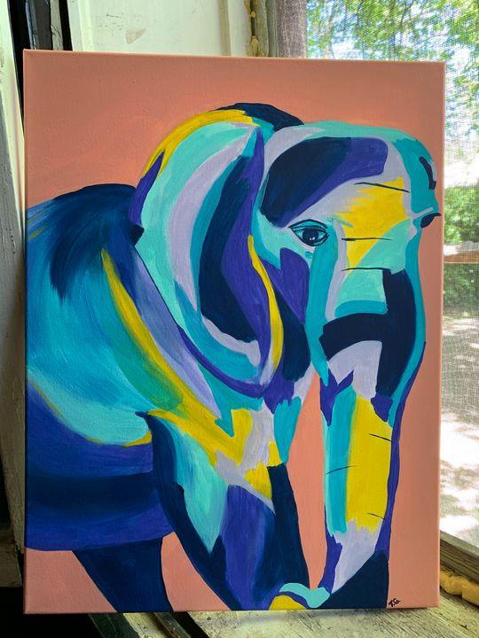 Elephant- blue - Tag Paints