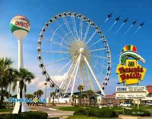 Pensacola Beach Ferris Wheel Collage