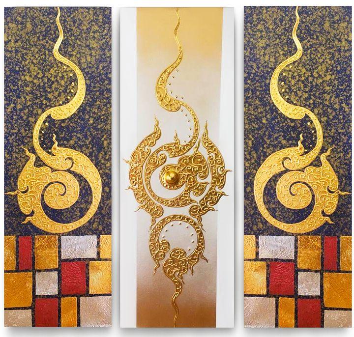 Classic Thai Art Painting - Royal Thai Art