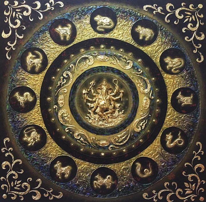Elephant Deity and Thai Zodiac - Royal Thai Art