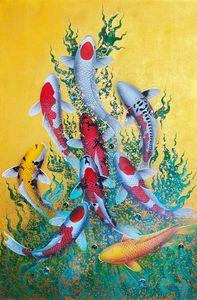 9 Koi Fish Artwork