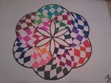 11 x 8.5 Checkered Flower of Life