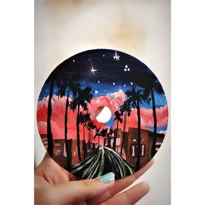 Acrylic on CD