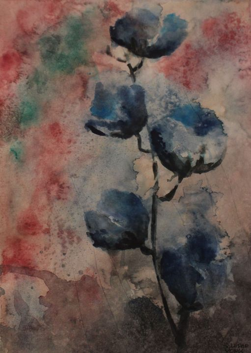 First blue flowers - Soledad Vonk - Watercolors