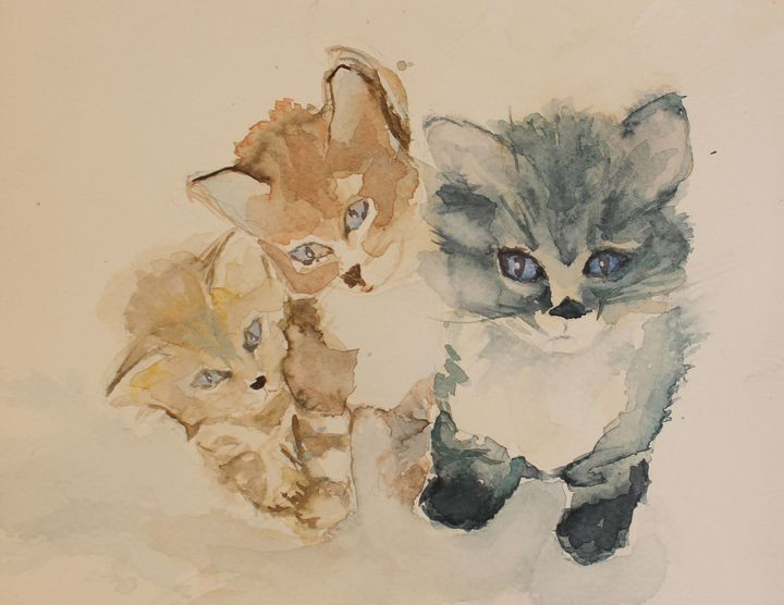 Three Kittens - Soledad Vonk - Watercolors