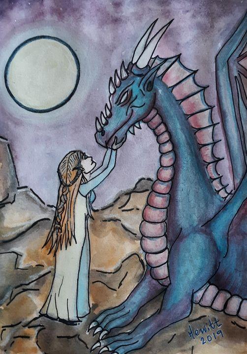 A Fae and Her Dragon - Celestial D-Vine Design