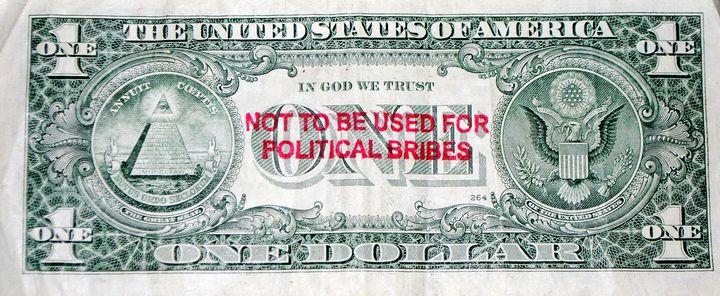One dollar bill. - oscarcwilliams