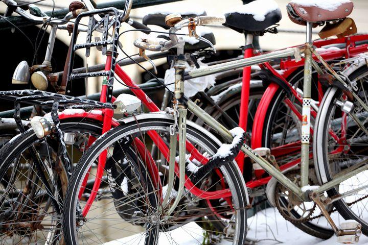 Amsterdam bikes. - oscarcwilliams