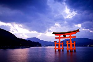 Torii gate at Miyajima, Japan