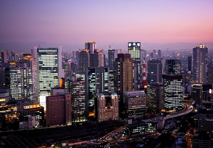 Osaka skyline - Neale Cousland