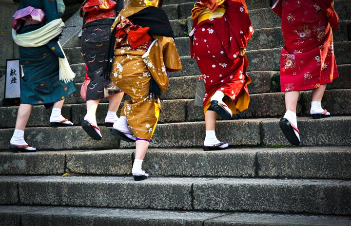 Japanese ladies in traditional dress - Neale Cousland