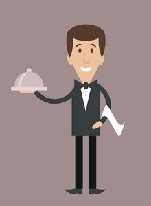 Waiter with order