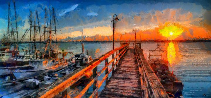 Bay at sunset - Tine Kremser