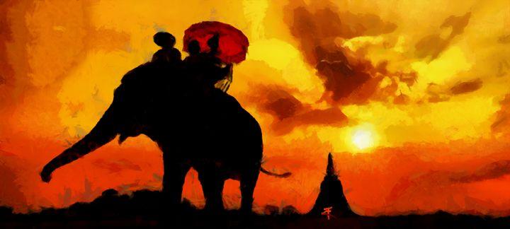 Sunset in Asia - Tine Kremser