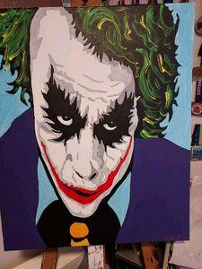 The Joker hand painted colour - Smart art
