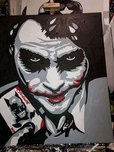 The Joker hand painted - Smart art