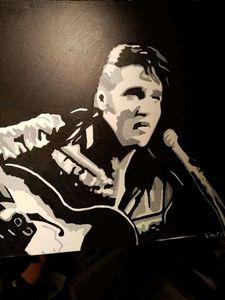 Elvis Presley Hand Painted - Smart art
