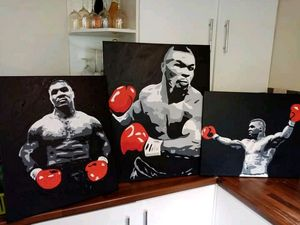 Boxing stars hand painted Tyson - Smart art