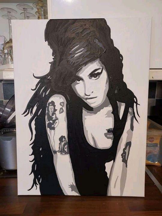 Amy Winehouse hand painted - Smart art