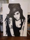 Amy Winehouse hand painted