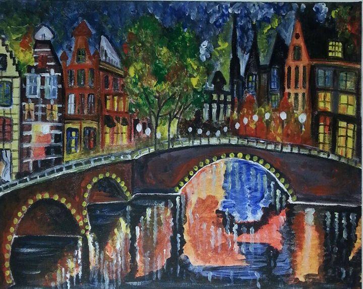 Shimmering Lights of Amsterdam - Aakriti