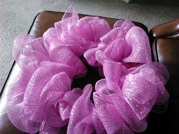 Pink wreath - Tracy Garlanger