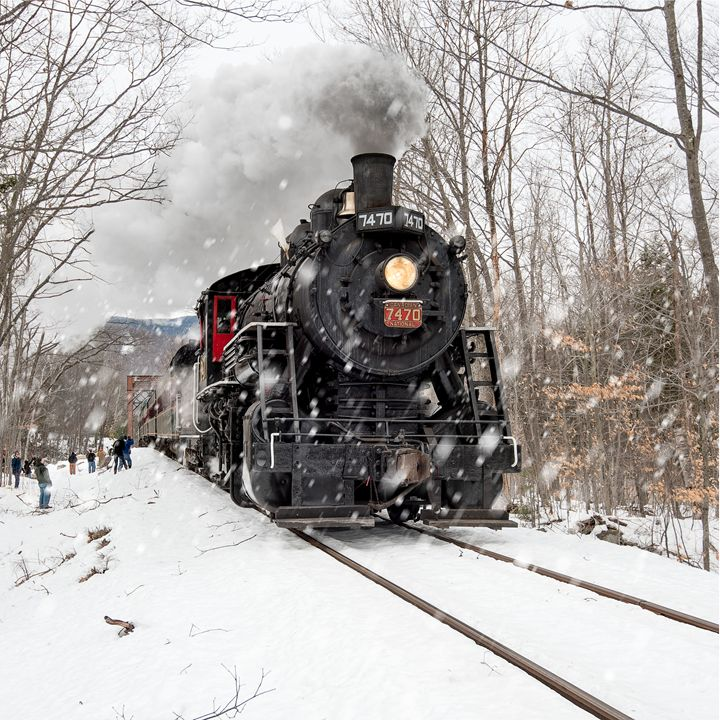 Steam Train in the Snow - Photography By Gordon Ripley