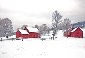Quechee Barns in Winter - Photography By Gordon Ripley