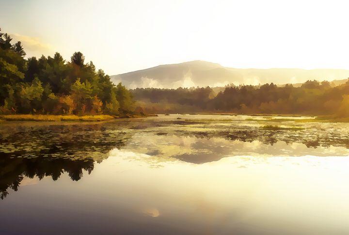 Fall Morning - oil - Photography By Gordon Ripley