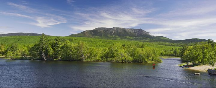 Mount Katahdin from Abol Bridge - Photography By Gordon Ripley
