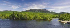 Mount Katahdin from Abol Bridge
