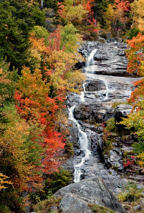 Flume Cascade - Crawford Notch NH - Photography By Gordon Ripley