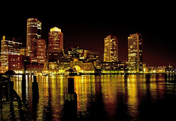 Boston at Night - Photography By Gordon Ripley
