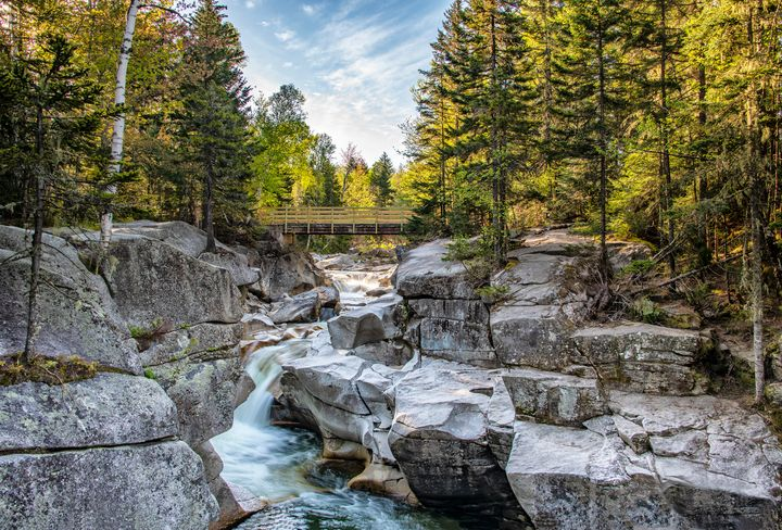 Falls on the Ammonoosuc River - Photography By Gordon Ripley
