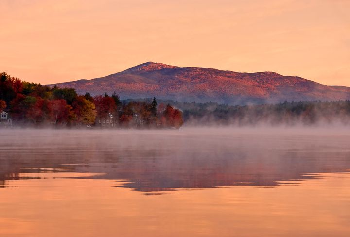 Monadnock Sunrise at Pearly Pond - Photography By Gordon Ripley
