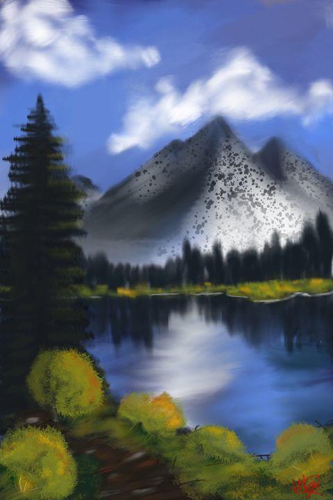 Bob Ross Inspired Landscape - Ethan Lehman