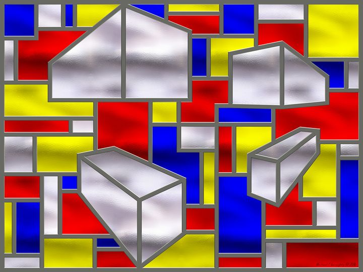Mondrian Influenced Stained Glass 2 - Michael C Geraghty