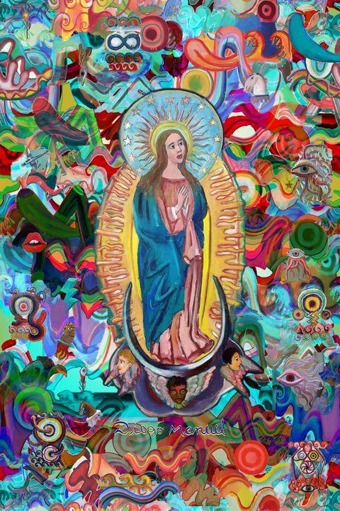 Virgin and graffitis - Diego Manuel Rodriguez