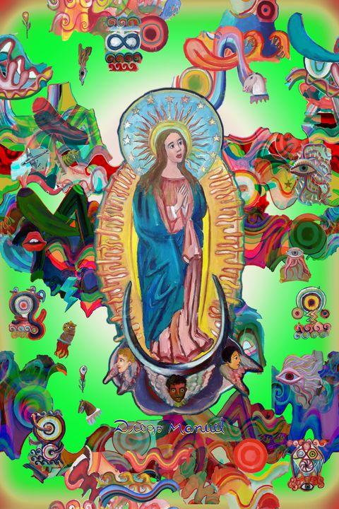 Virgin and graffiti - Diego Manuel Rodriguez