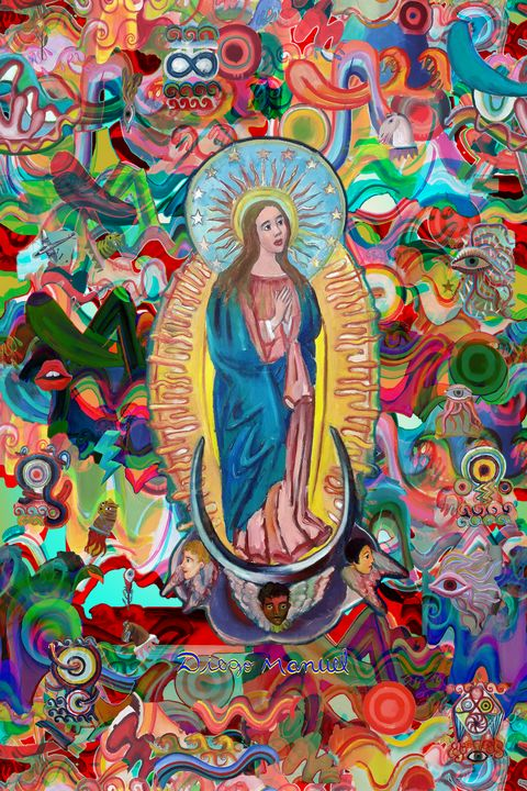 Our Lady of Miracles and graffitis - Diego Manuel Rodriguez