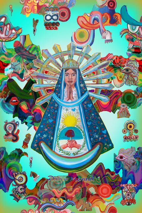 Virgin of Lujan and graffitis - Diego Manuel Rodriguez