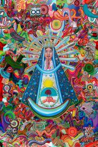 Virgin of Lujan and graffitis