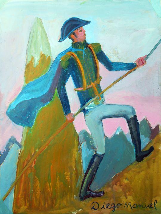 San Martín cruzando Los Andes - Diego Manuel Rodriguez